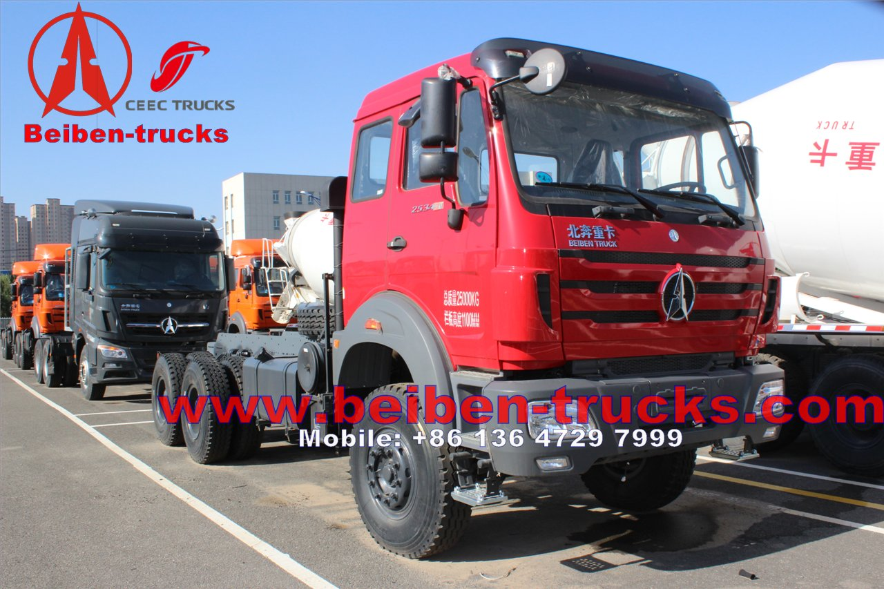 cheapest price for Beiben Tractor Truck 6x4 400hp Military Trucks Sale