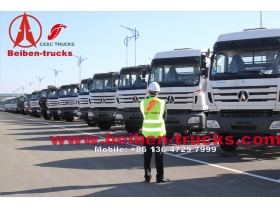 congo North BENZ BEIBEN 6x4 tractor truck with 420hp WEICHAI engine 100ton capacity
