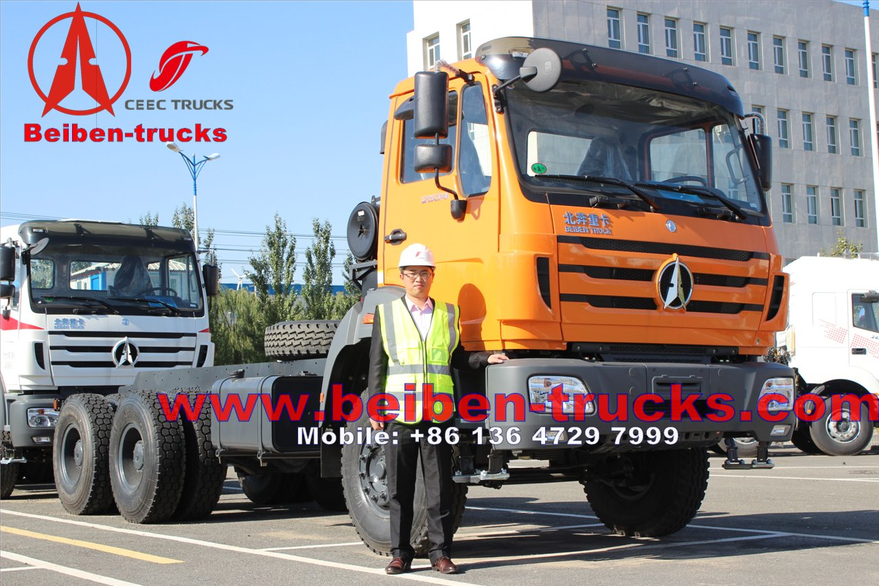 Africa Hot Sale 460hp Beiben transporting lorry container Truck Tractor Truck