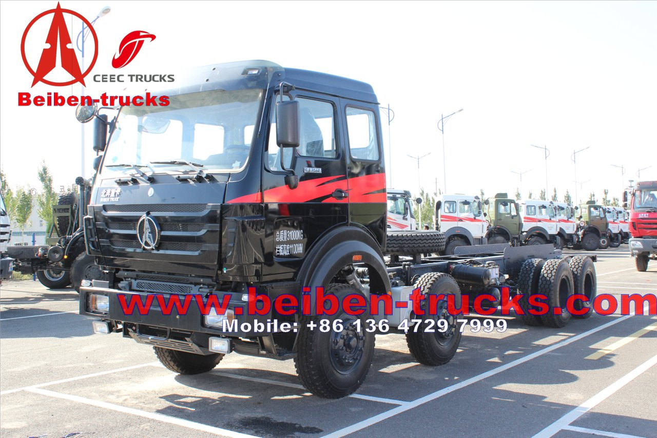 africa beiben 340 Hp engine 8 wheel drive truck chassis for sale