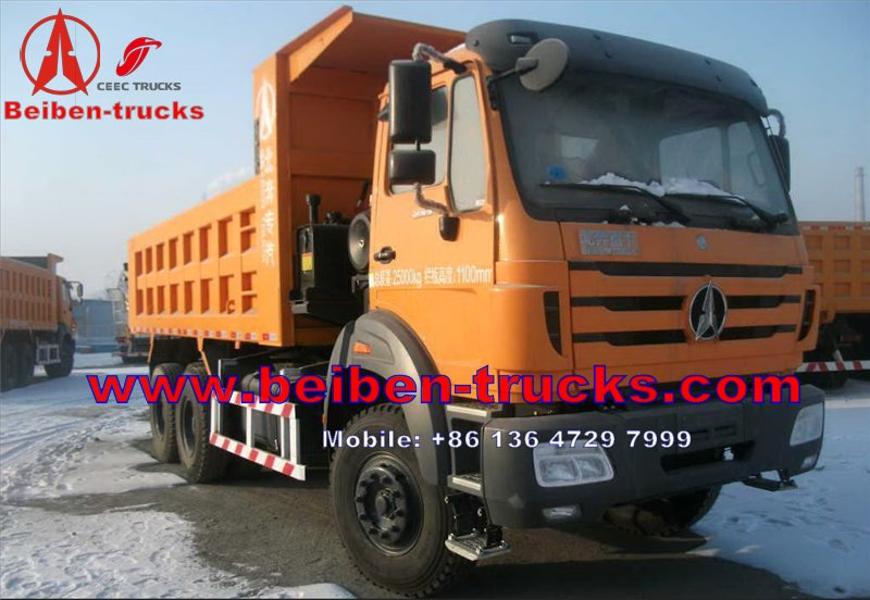 china The 2013 New Heavy Duty Truck Baotou Beiben Dump Truck 6X4 with 10 Wheels EuroIII