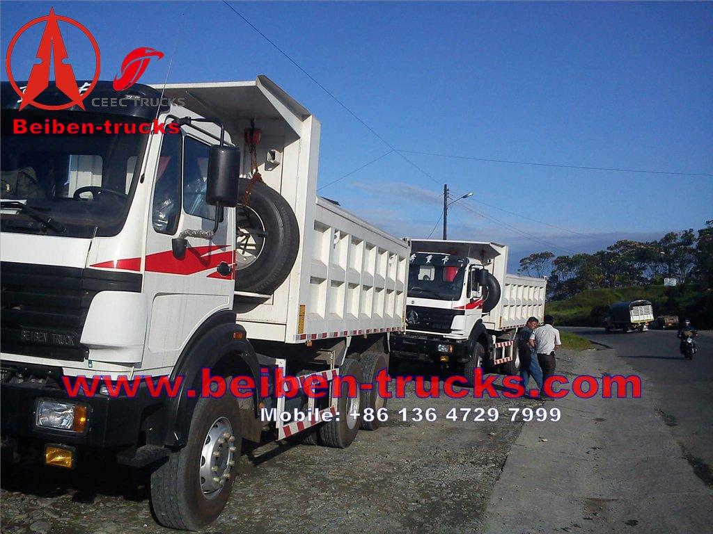 cheap North Benz NG80 WEICHAI Engine EUROIII Truck Hydraulic Cylinder 6x4 Beiben Dump Truck