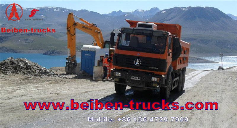 Hot Sale Beiben Truck in Congo 380hp 6*4 Beiben Dump Truck manufacturer