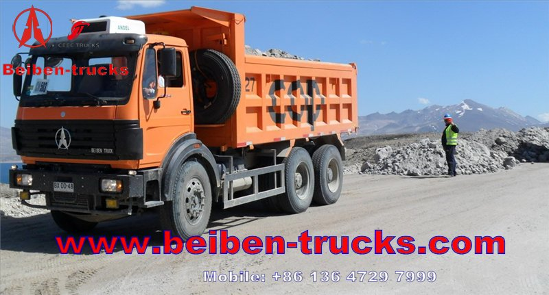 cheap Brand New 25T 6*4 380hp Beiben Dump Truck