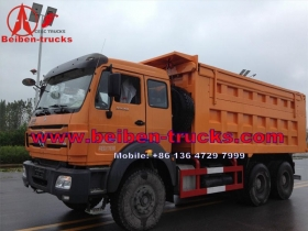 china North Beiben 6x4 380hp sand tipper dump truck for kenya