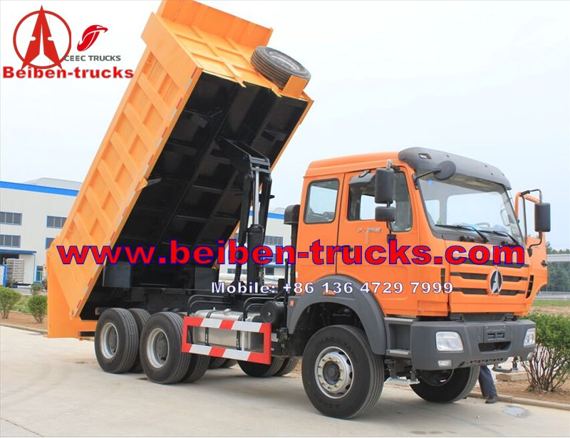 China Powerful Beiben 420HP 6x4 dump 10 wheeler trucks