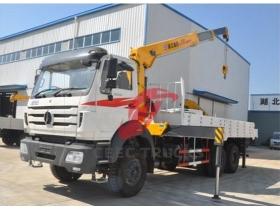 china beiben 10 T truck mounted crane manufacturer