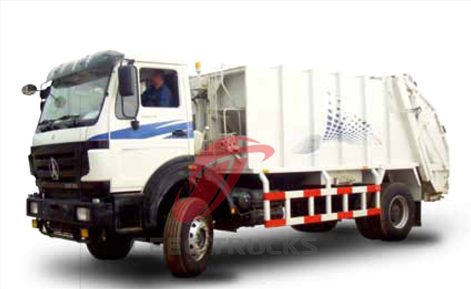 north benz 8 CBM rear loading garbage truck manufacturer