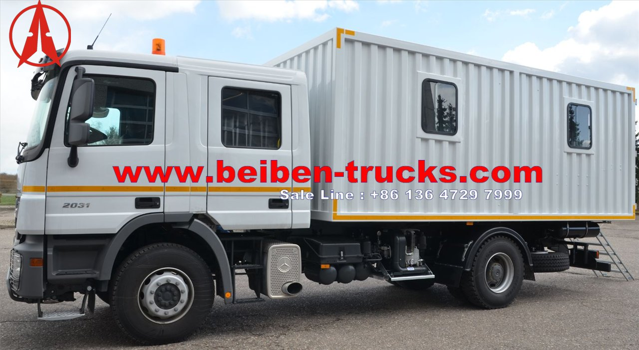 Beiben service and lubrication workshop truck  manufacturer