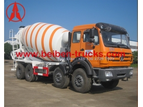 china north benz 14 CBM transit mixer truck supplier