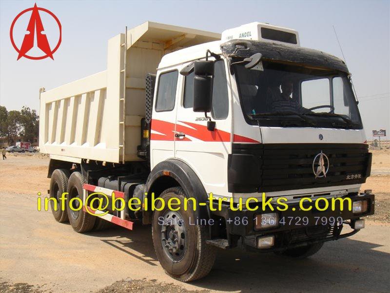 china beiben 2636 dumper for africa customer