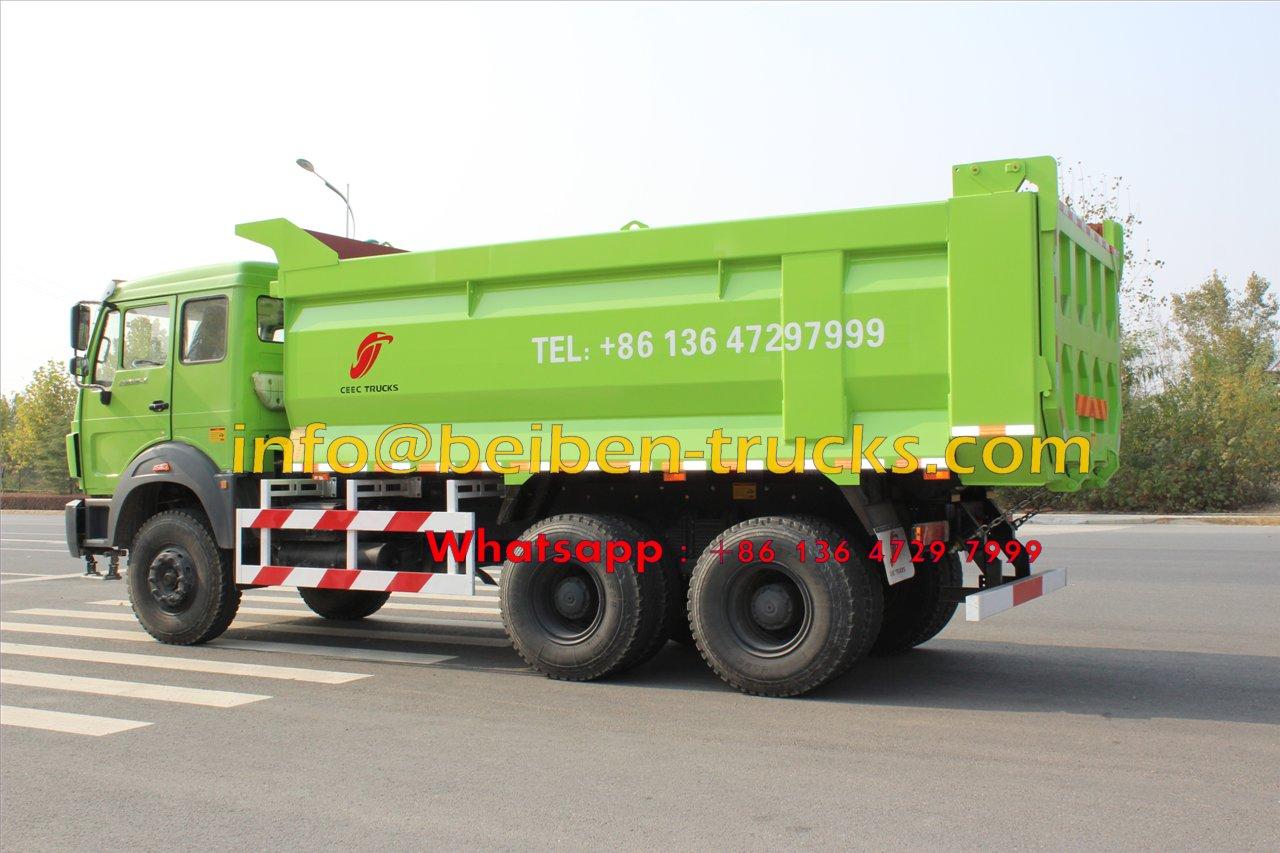 Low price for high quality China 30 ton truck 6X4 beiben dump trucks
