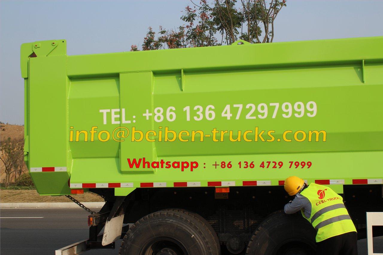 China manufacturer 10 wheel 20 ton sand tipper truck Beiben dump truck  price