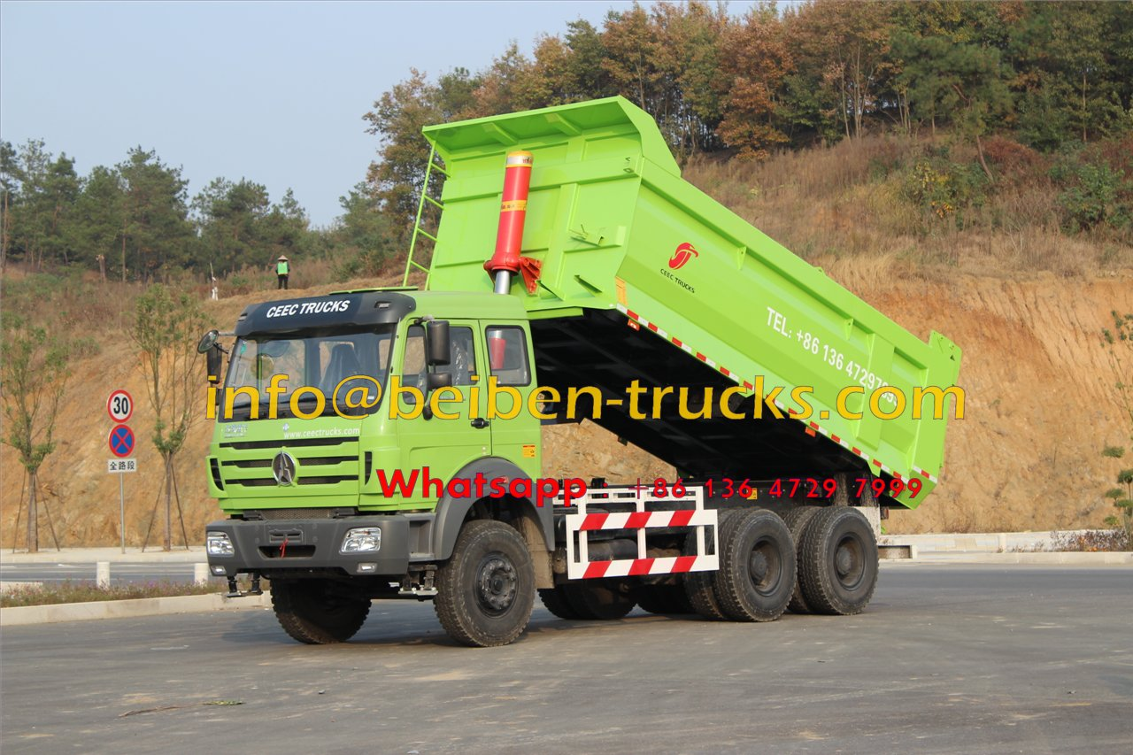 Use Mercedes Benz Technology 340hp & 380hp Beiben North Benz Dump Truck For Algeria customer