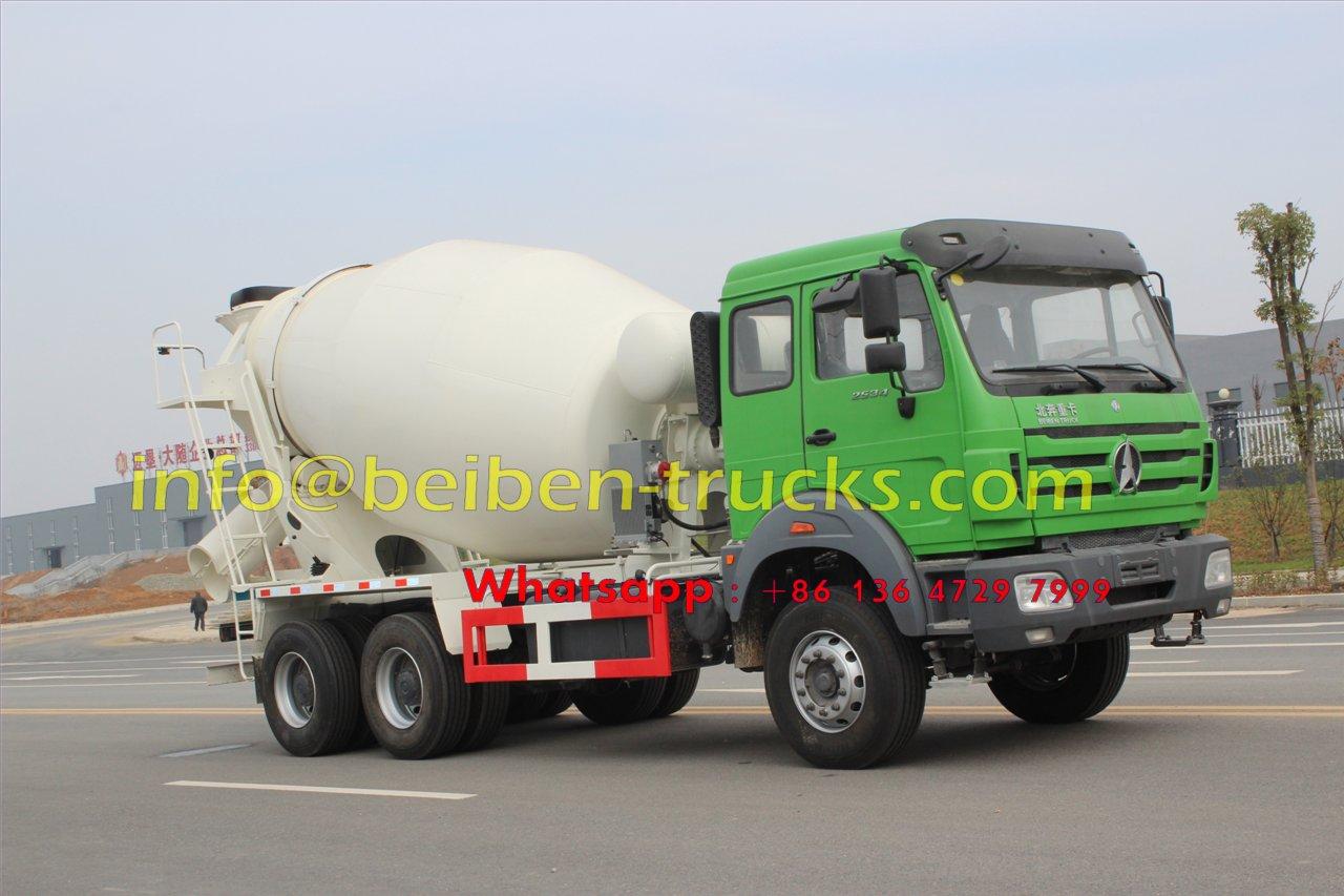 china beiben 2534 transit mixer truck