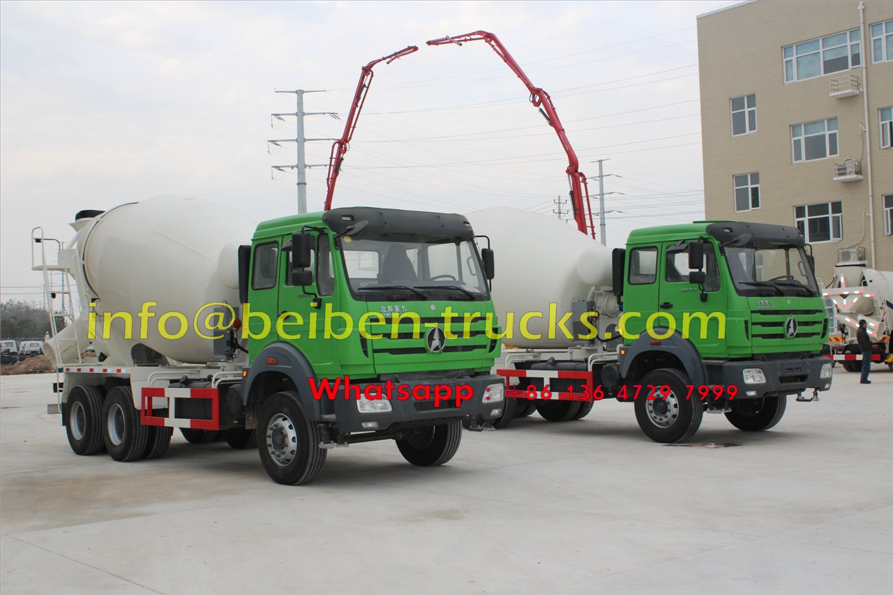 China famous brand Beiben 8 cubic meters concrete mixer truck  price