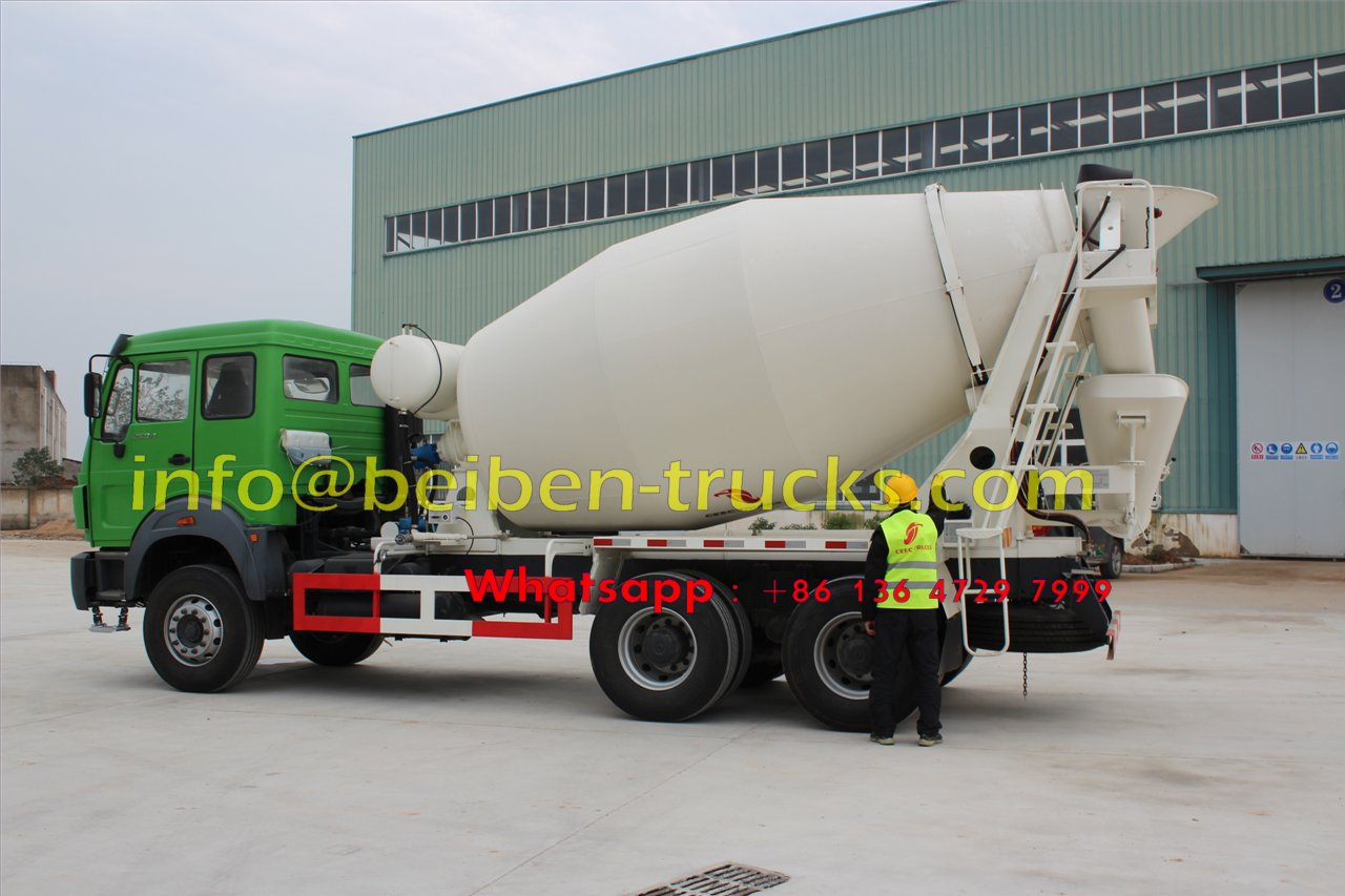 North Benz cement transit vehicle concrete mixer truck weight in china