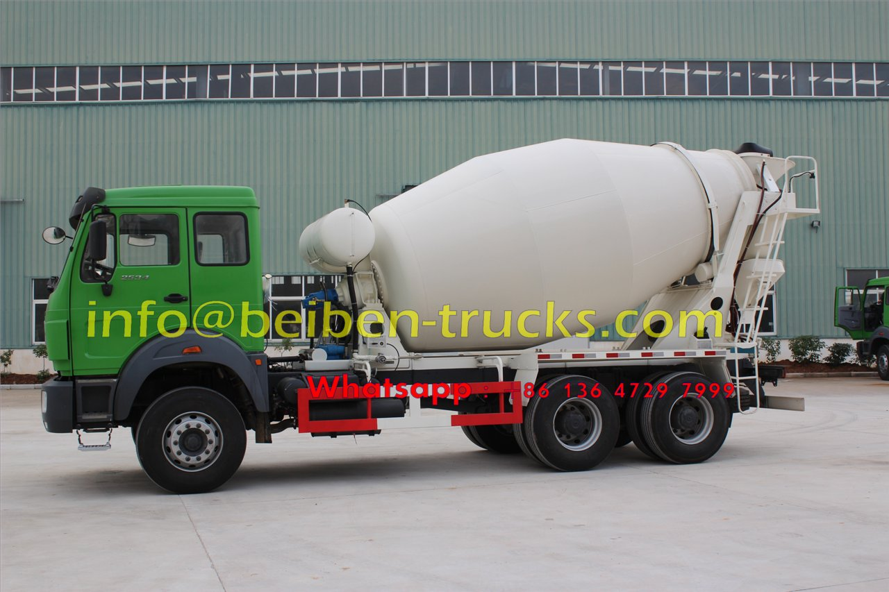 Military quality hot sale Beiben 6x4 5m3 capacity concrete mix truck  supplier