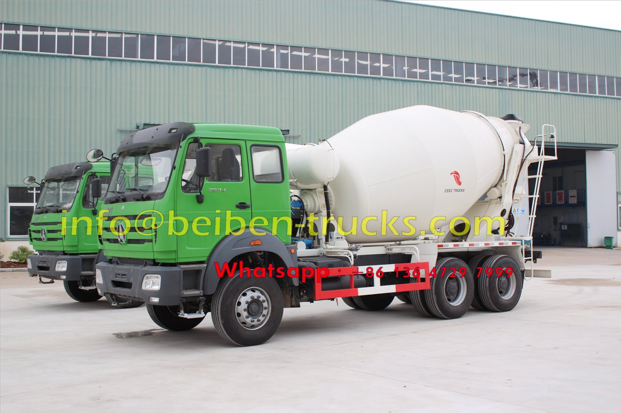 china Famous brand Beiben 336hp concrete mixer truck cheap price