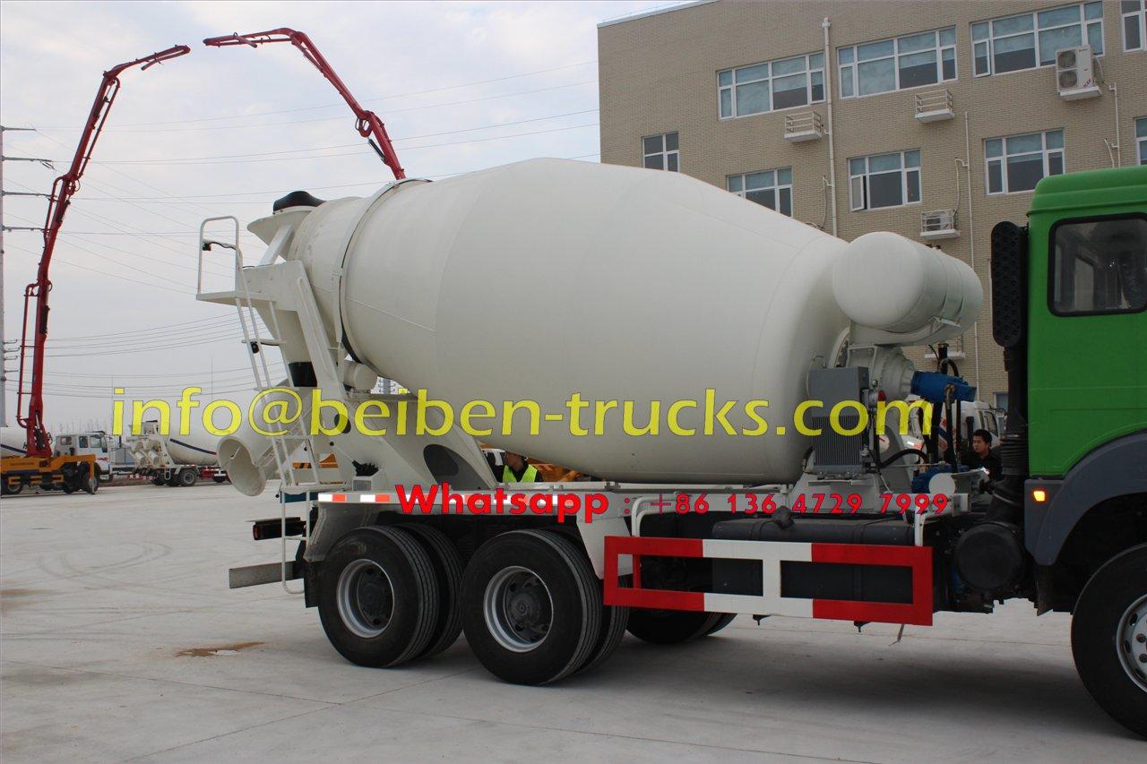 North Benz NG80 6x4 concrete mixer truck cement truck factory