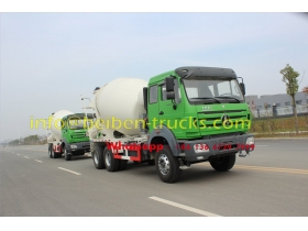 China Beiben 6x4 340hp 10 Cubic Meters Concrete Mixer Truck supplier