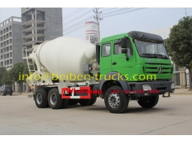 2015 new model Beiben concrete mixer truck price