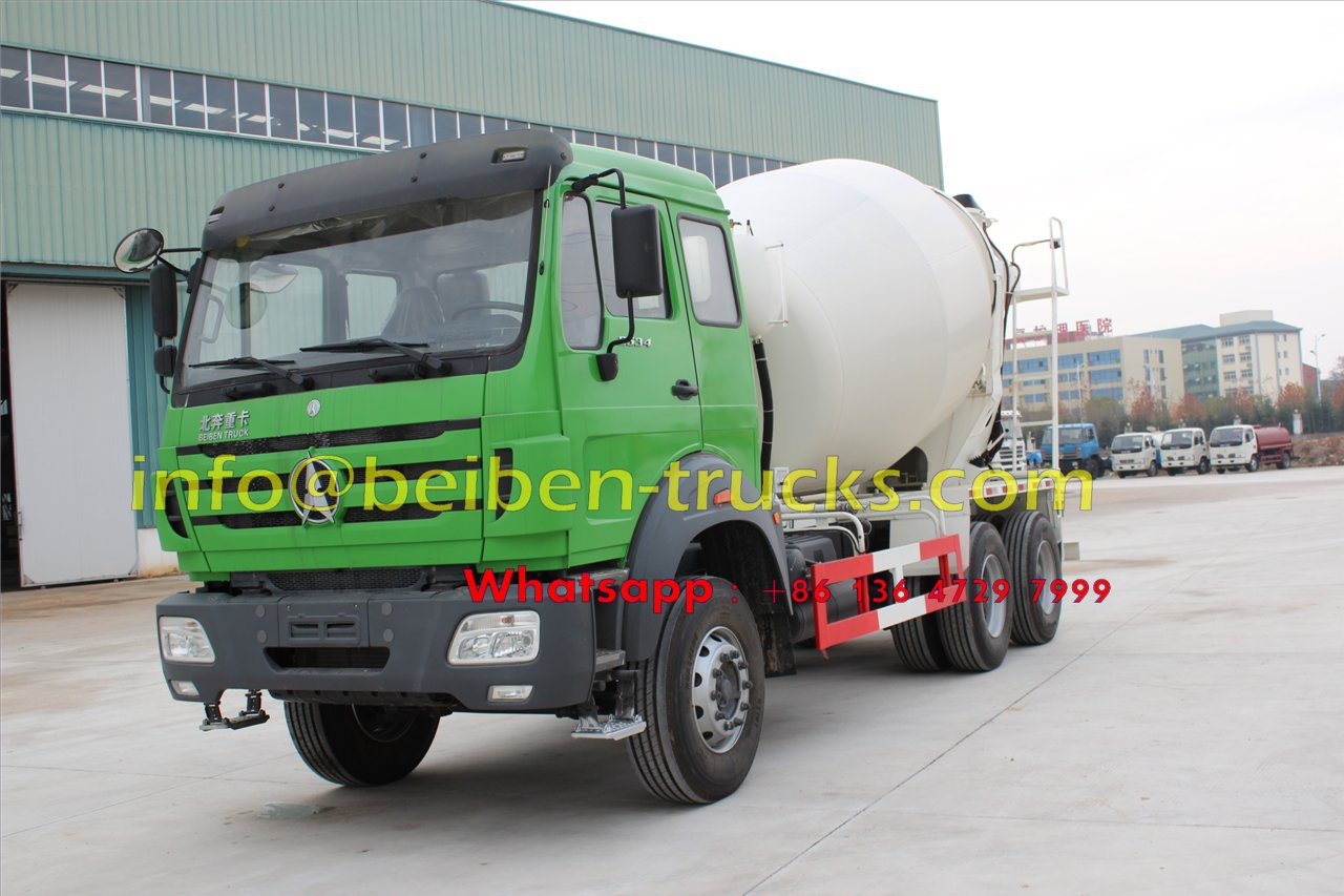 Using mercedes benz technology Beiben 10 wheel 9 cubic meters concrete truck price