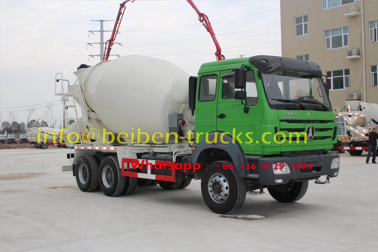 North Benz 6x4 self loading brand new cement mixer truck price