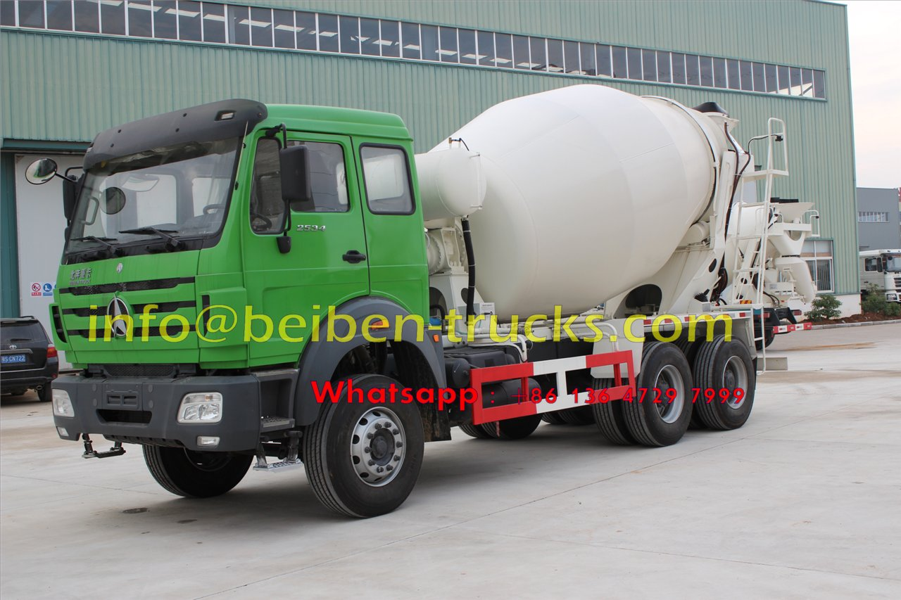 Military quality hot sale Beiben 6x4 5m3 capacity concrete mixer truck  supplier