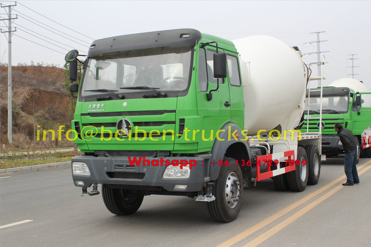 North Benz /Beiben self loading concrete mixer truck  price