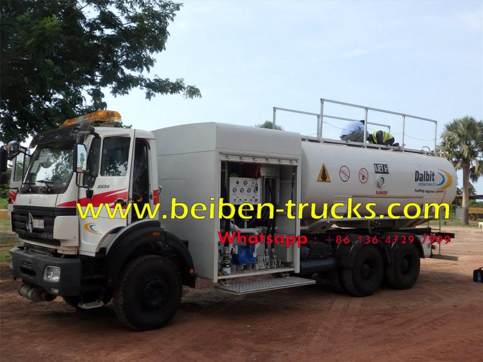china beiben 6*4 drive fuel tanker manufacturer