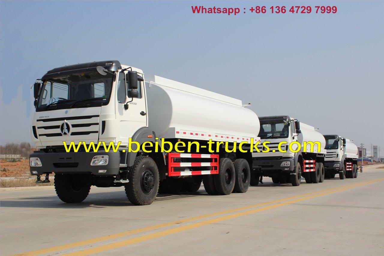 Right hand drive beiben 2538 water truck for kenya customer