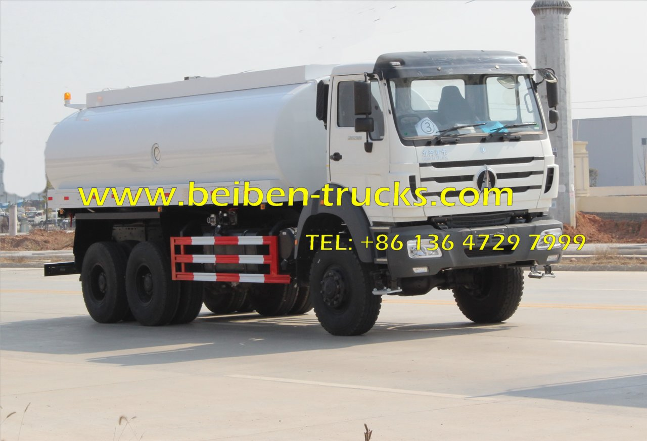 Beiben 6 wheel drive 2538 water tanker