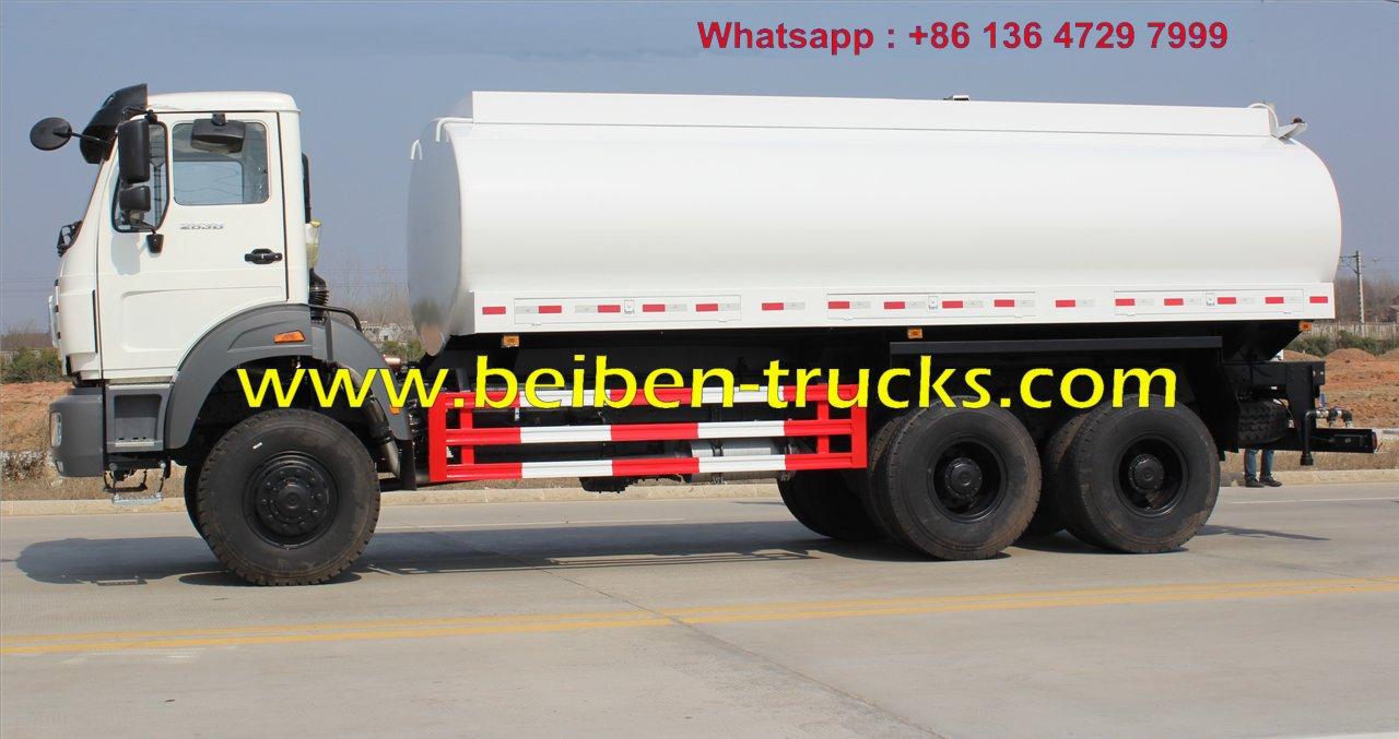 Beiben 6 wheel drive 2538 water tanker