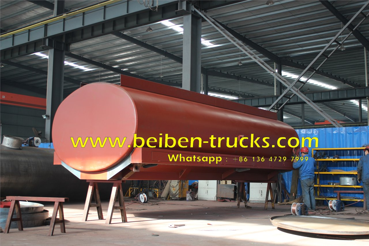 Beiben 6x4 5000 gallon diesel water sprinkling tank truck factory