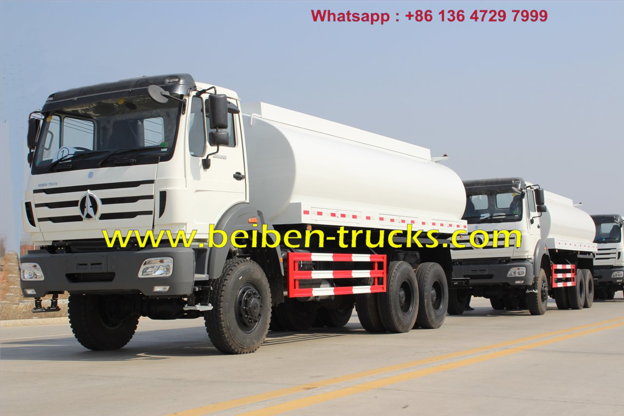 BeibenTRUK 15m3 6X4 mobile catering trucks, RHD water tank truck for sal...