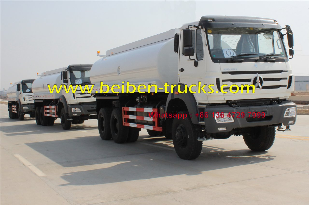 Beiben sprinkler truck 2638 6x4 water truck with 20 cubic tanker supplier