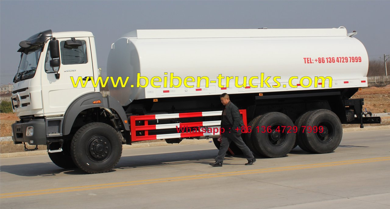 china North benz BEIBEN 6x4 336HP tank truck water truck for sale