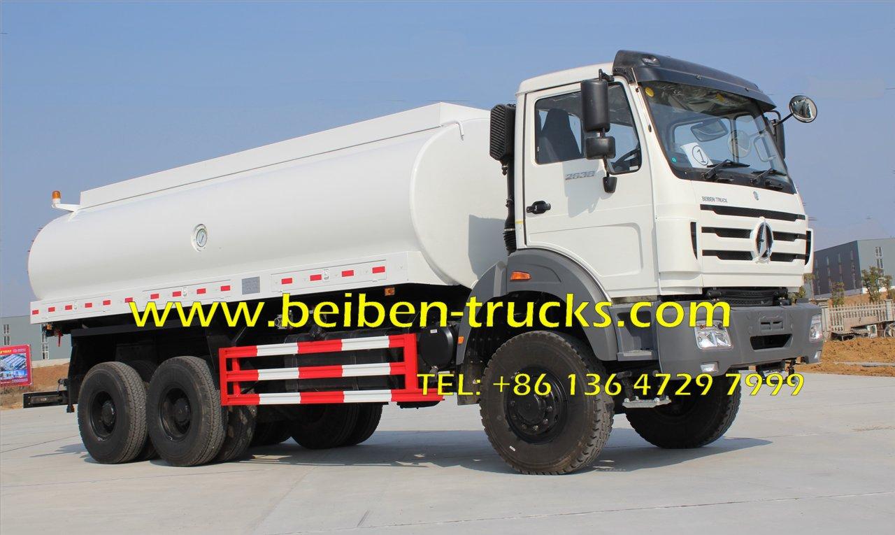 Hot Sale North Benz Beiben 6x4 336hp Tank Truck Water