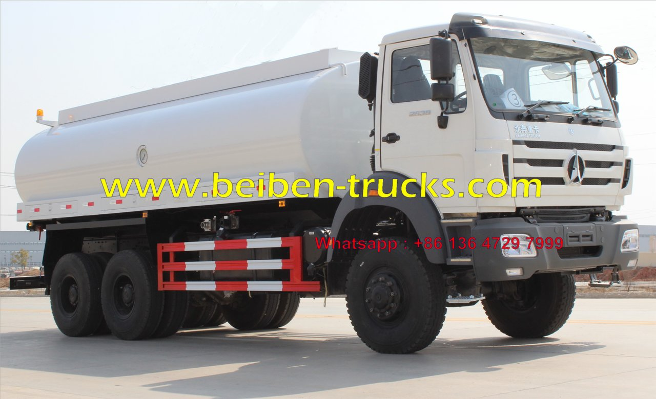 china Beiben NG80 6x4 20 cubic meters water tank truck price