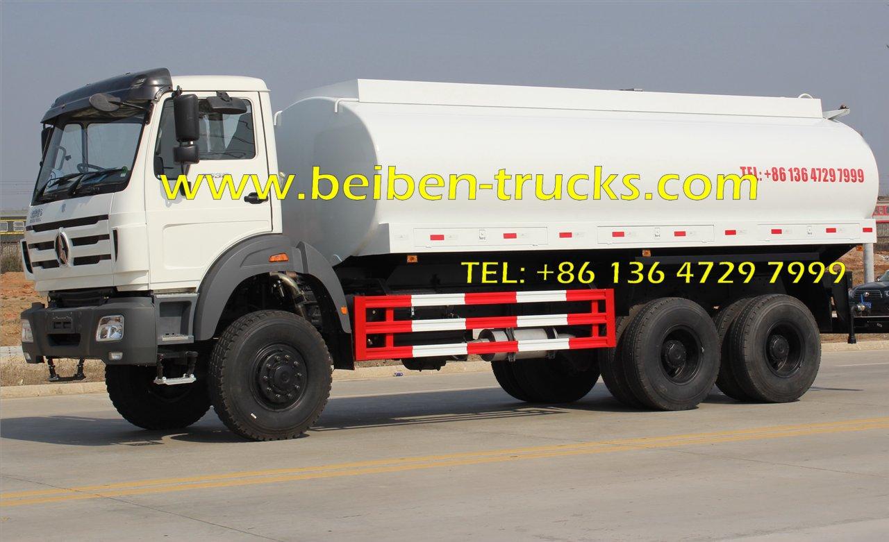 Hot Sale 20m3 Beiben Water Transportation Stainless Steel