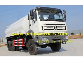 china Beiben NG80 6x4 20 cubic meters power star water tankers for sale