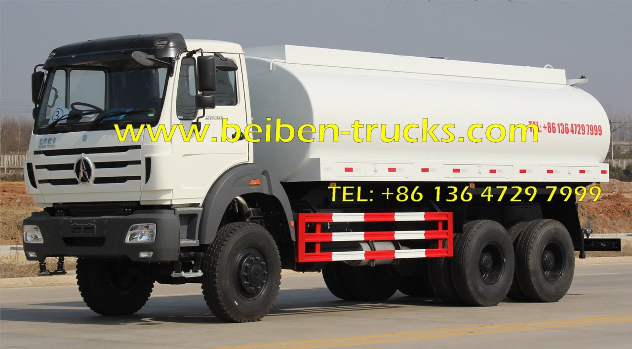 China supliers beiben heavy duty 6x4 water carrier truck for hot sale