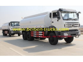 336hp beiben water tank truck 10-wheel 20m3 2638 6x4 water spray truck