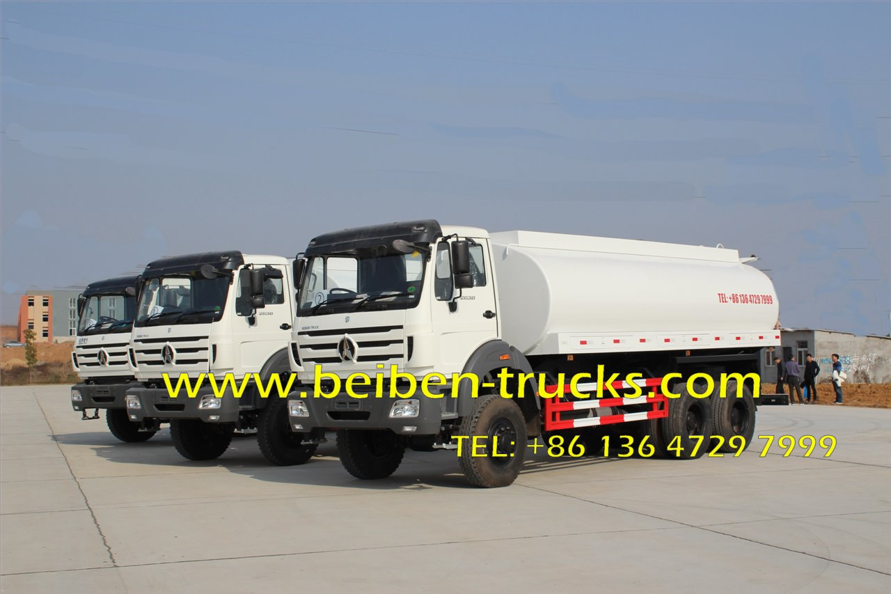 20m3 BEIBEN Water transportation stainless steel water tank truck supplier