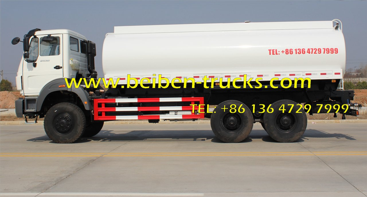 china North benz NG80 6x4 336hp water tank truck for sale in constructon