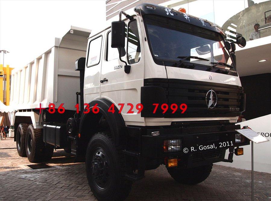 china beiben 6*4  dump truck with 360 hp engine