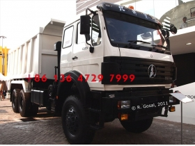 china beiben 6*4  dump truck with 360 hp engine