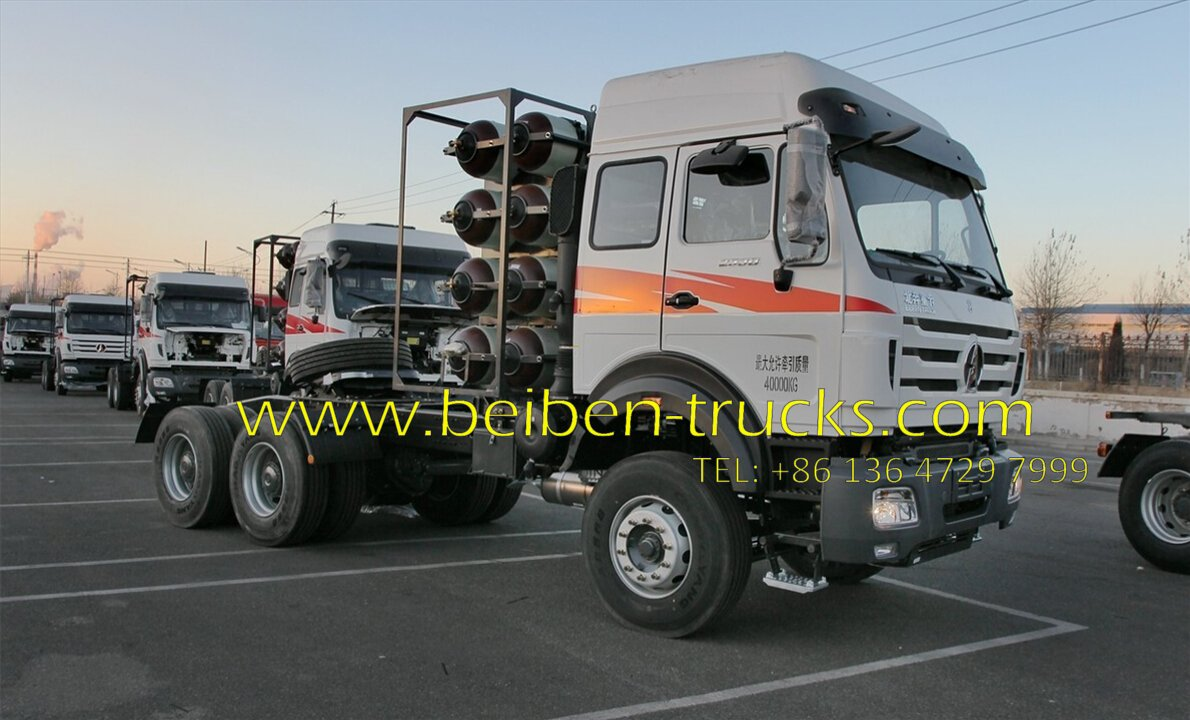 china beiben 2538 CNG trailer tractor