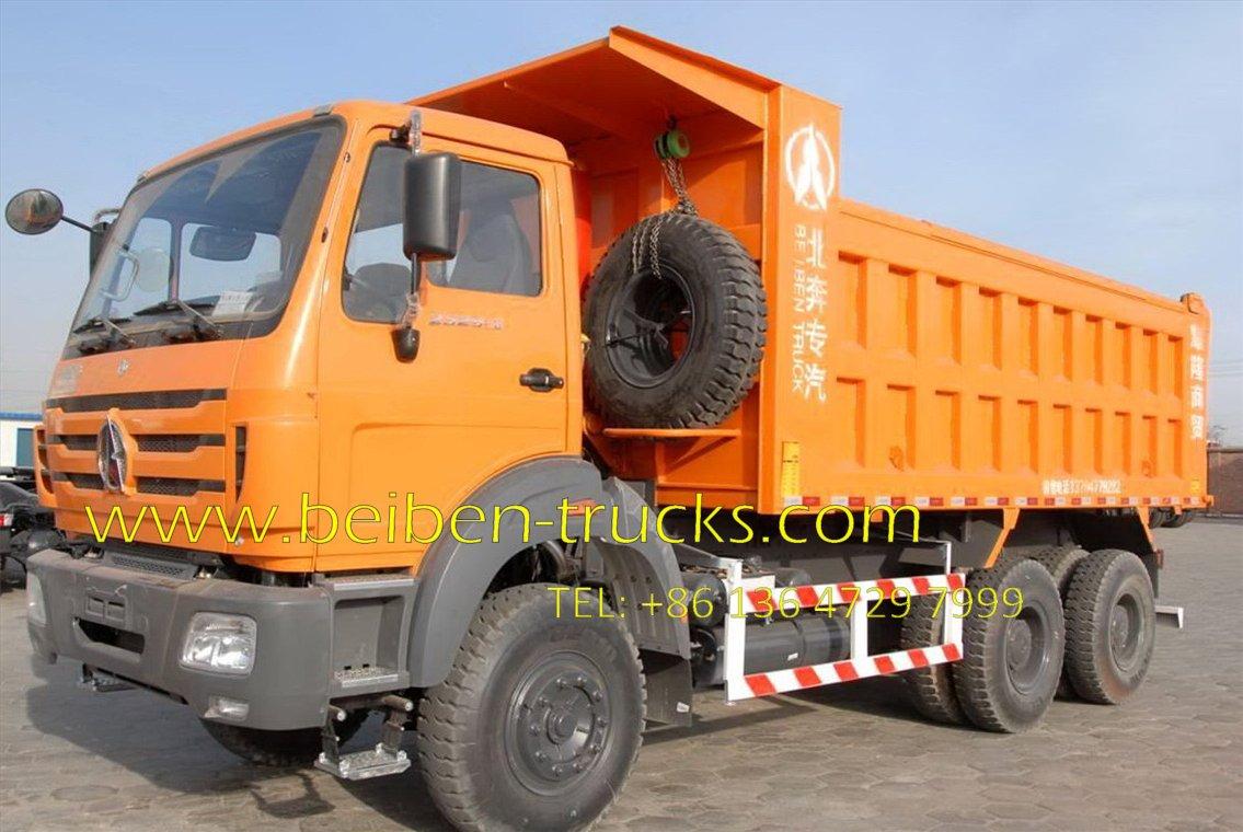 north benz 6*6 drive dump truck supplier